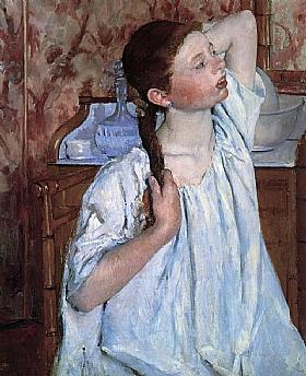 Mary Cassatt, Fille arrangeant ses cheveux - GRANDS PEINTRES / Cassatt