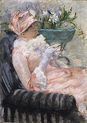 Mary Cassatt, La tasse de thé - GRANDS PEINTRES / Cassatt