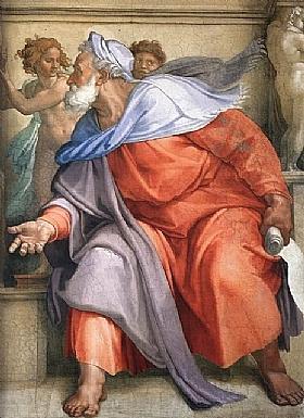 Michel-Ange, Le prophete Ezechiel - GRANDS PEINTRES / Michel-Ange