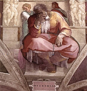 Michel-Ange, Le propete Jeremiah - GRANDS PEINTRES / Michel-Ange