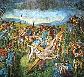 Michel-Ange, Le martyre de Saint Pierre - GRANDS PEINTRES / Michel-Ange