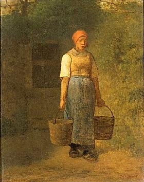 Jean-François Millet, Femme au puit - GRANDS PEINTRES / Millet