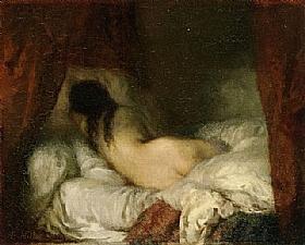 Jean-François Millet, Femme nue couchée - GRANDS PEINTRES / Millet