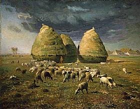 Jean-François Millet, Les meules de foin - GRANDS PEINTRES / Millet