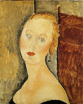Modigliani, Portrait de Germaine Survage - GRANDS PEINTRES / Modigliani