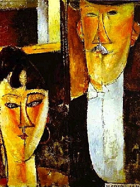 Modigliani, Les mariés - GRANDS PEINTRES / Modigliani