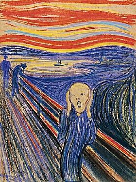 Edvard Munch, Le cri  (version 2 - 1895) - GRANDS PEINTRES / Munch