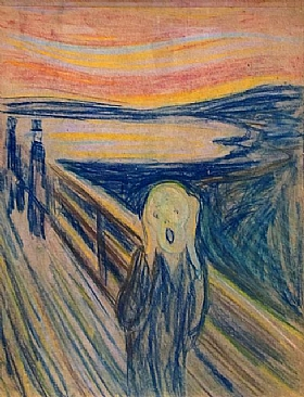 Edvard Munch, Le cri  (version 4 - 1893) - GRANDS PEINTRES / Munch