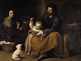 Murillo, La Sainte Famille à l'oisillon - GRANDS PEINTRES / Murillo