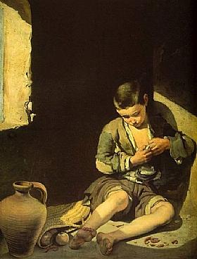 Murillo, Le jeune mendiant - GRANDS PEINTRES / Murillo