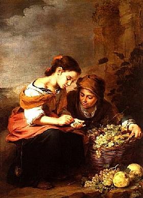 Murillo, Le petit vendeur de fruits - GRANDS PEINTRES / Murillo