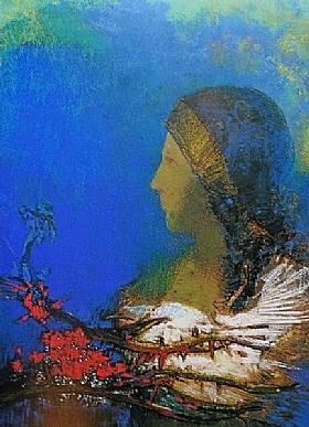 Odilon Redon, Les épines rouges - GRANDS PEINTRES / Redon