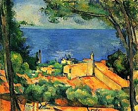 Paul Cézanne, L'Estaque - Toits rouges - GRANDS PEINTRES / Cezanne