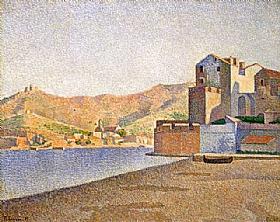 Paul Signac, Collioure - la plage - GRANDS PEINTRES / Signac