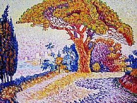 Paul Signac, Le Pin Bertaud Saint-Tropez - GRANDS PEINTRES / Signac