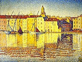Paul Signac, Sur le Port de St Tropez - GRANDS PEINTRES / Signac