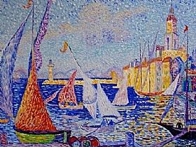 Paul Signac, Saint Tropez - le Quai - GRANDS PEINTRES / Signac