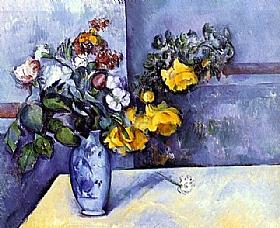 Fleurs dans un Vase, Paul Cezanne : tableau de GRANDS PEINTRES et peinture de Cezanne
