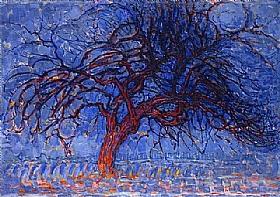 Piet Mondrian, arbre rouge - GRANDS PEINTRES / Mondrian
