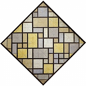 Piet Mondrian, Losange Composition 1919 - GRANDS PEINTRES / Mondrian