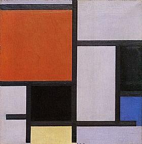 Piet Mondrian, Composition 1921 - GRANDS PEINTRES / Mondrian