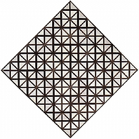 Piet Mondrian, Losange lignes grises - GRANDS PEINTRES / Mondrian