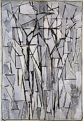 Piet Mondrian, Composition trees - GRANDS PEINTRES / Mondrian