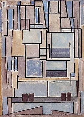 Piet Mondrian, facade bleue - GRANDS PEINTRES / Mondrian