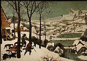 Pieter Bruegel dit l'Ancien, Chasseurs dans la neige - GRANDS PEINTRES / Bruegel