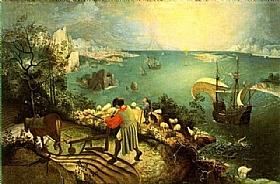 Pieter Bruegel dit l'Ancien, La chute d'Icare - GRANDS PEINTRES / Bruegel