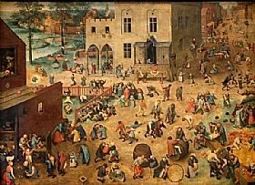 Pieter Bruegel dit l'Ancien, Jeux d'enfants - GRANDS PEINTRES / Bruegel