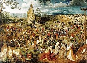 Pieter Bruegel dit l'Ancien, Le portement de croix - GRANDS PEINTRES / Bruegel