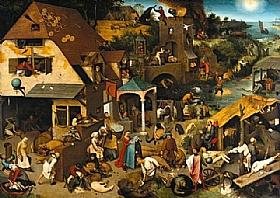 Pieter Bruegel dit l'Ancien, Proverbes flamands - GRANDS PEINTRES / Bruegel