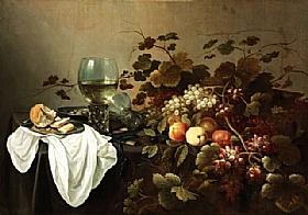 Pieter Claesz, Nature morte aux fruits et Roemer - GRANDS PEINTRES / Claesz