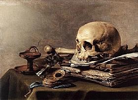 Pieter Claesz, Nature morte Vanité - GRANDS PEINTRES / Claesz