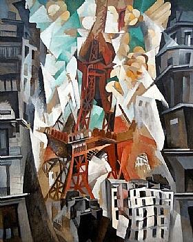 Robert Delaunay, Tour Eiffel rouge - GRANDS PEINTRES / Delaunay