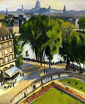 Robert Delaunay, Vue du quai du Louvre - GRANDS PEINTRES / Delaunay