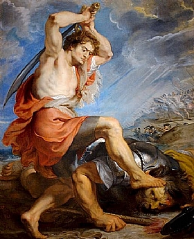 Pierre Paul Rubens, David contre Goliath - GRANDS PEINTRES / Rubens