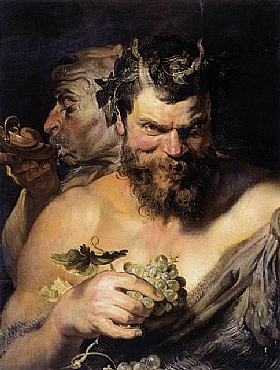 Pierre Paul Rubens, Deux satyrs - GRANDS PEINTRES / Rubens