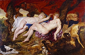 Pierre Paul Rubens, Diana et sa nymphe - GRANDS PEINTRES / Rubens