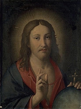 Salvi da Sassoferrato, Christ Bénissant - GRANDS PEINTRES / Sassoferrato