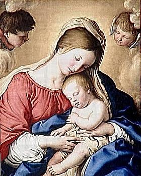 Salvi da Sassoferrato, Le sommeil de l'enfant Jésus - GRANDS PEINTRES / Sassoferrato