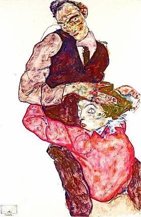 Egon Schiele, Autoportrait avec Wally - GRANDS PEINTRES / Schiele