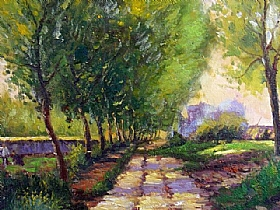 Alfred Sisley, chemin près d'un village - GRANDS PEINTRES / Sisley