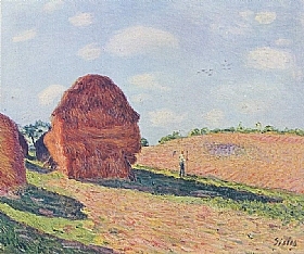 Alfred Sisley, La meule - GRANDS PEINTRES / Sisley