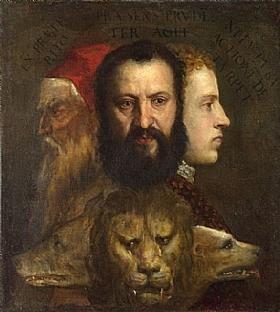 Tiziano Vecellio dit Titien, Allégorie Prudence - GRANDS PEINTRES / Titien