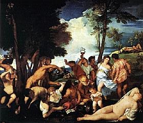Tiziano Vecellio dit Titien, La bacchanale des Andriens - GRANDS PEINTRES / Titien