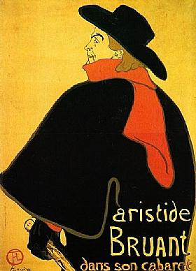 Henri de Toulouse-Lautrec, Bruant dans son cabaret - GRANDS PEINTRES / Toulouse-Lautrec