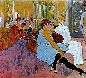 Henri de Toulouse-Lautrec, Au salon de la rue des Moulins - GRANDS PEINTRES / Toulouse-Lautrec