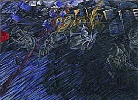 Umberto Boccioni, Ceux qui partent - GRANDS PEINTRES / Boccioni